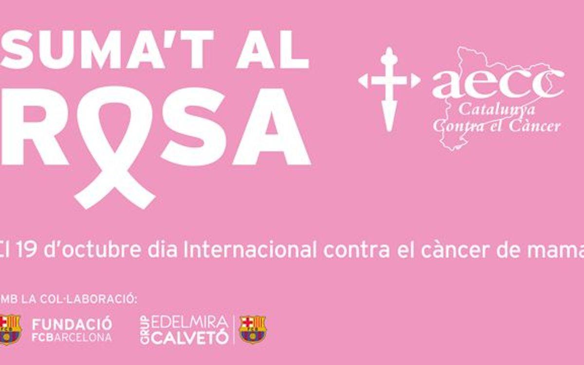 El FC Barcelona se suma a la lluita contra el càncer de mama
