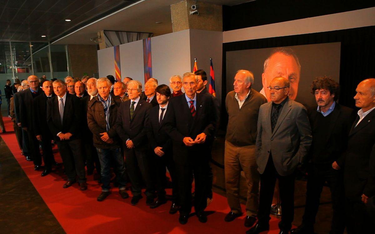 Visita de la Agrupación al Memorial Cruyff