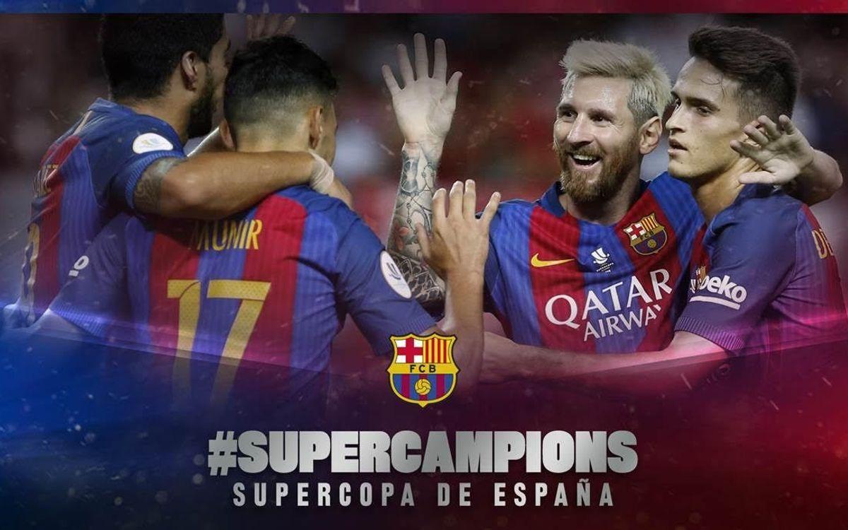 El FC Barcelona gana su 12ª Supercopa de España