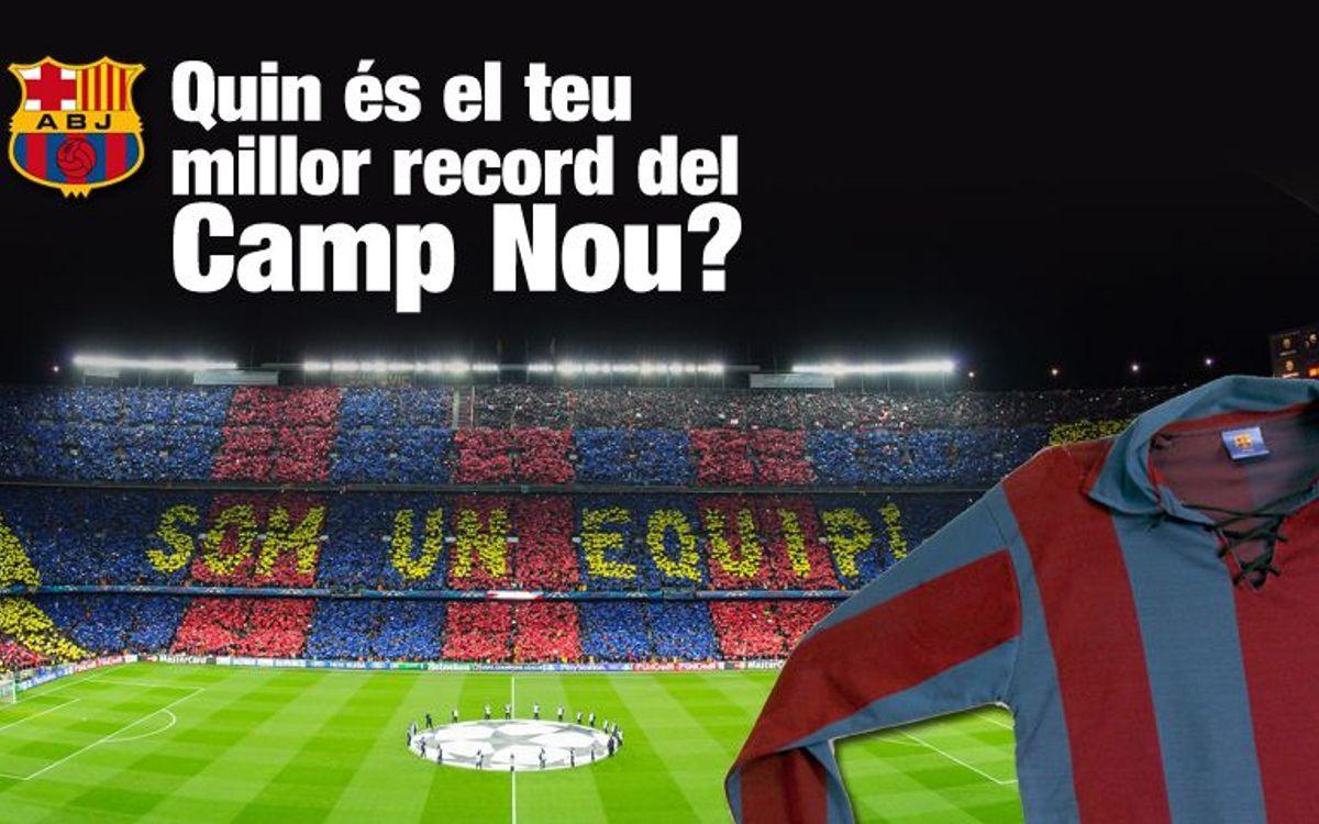 La Crida de l'Agrupació: elige tu mejor recuerdo en el Camp Nou y gana una camiseta vintage