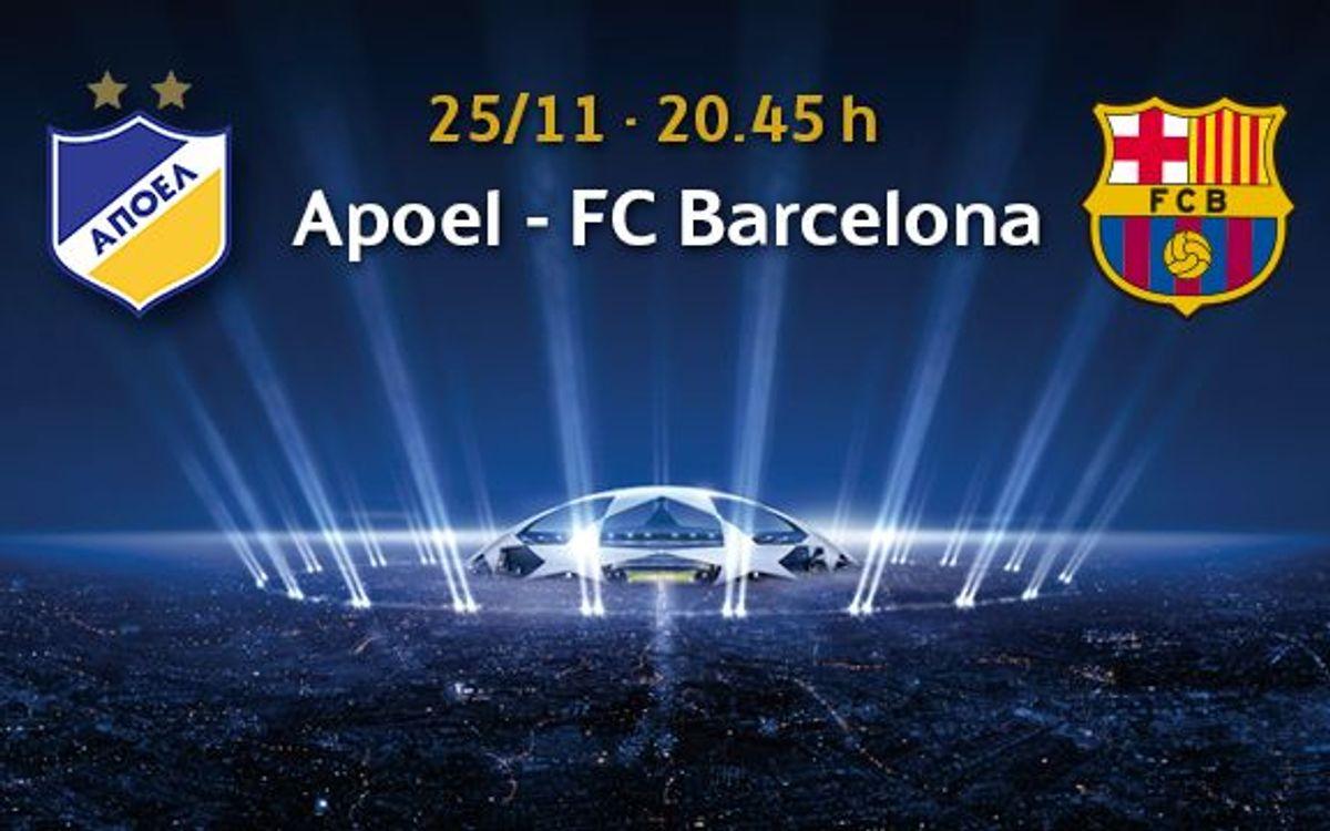 Apoel – Barça, entrades a partir del 10 de novembre