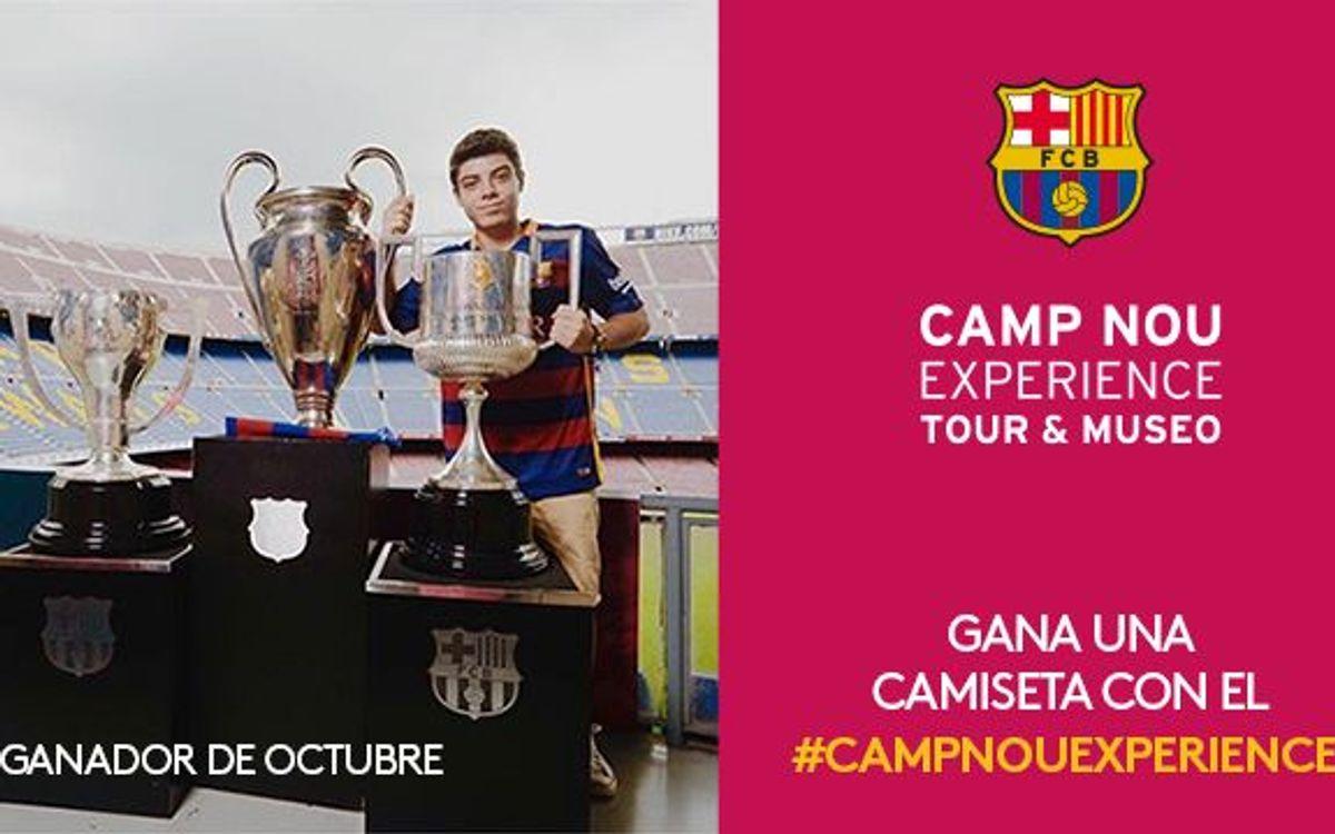 El concurso Camp Nou Experience de octubre ya tiene ganador