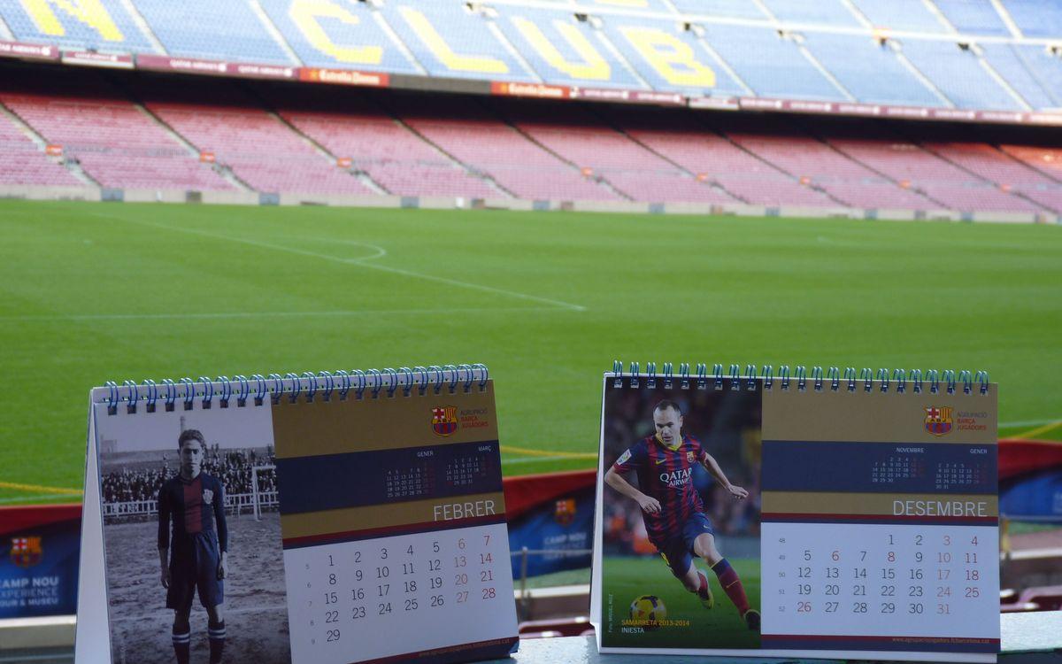 La Agrupació Barça Jugadors dedica el calendario 2016 a las camisetas históricas del Club