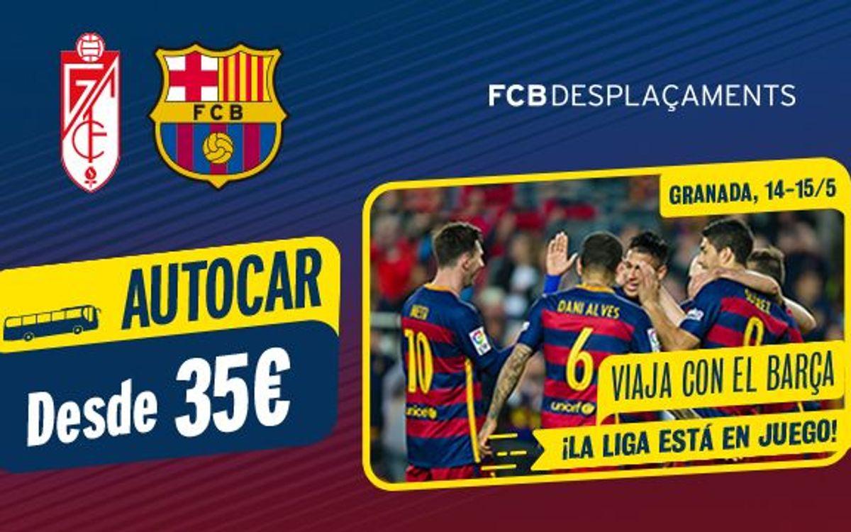 Opciones de viaje en autocar o avión para asistir al último partido de Liga en Granada