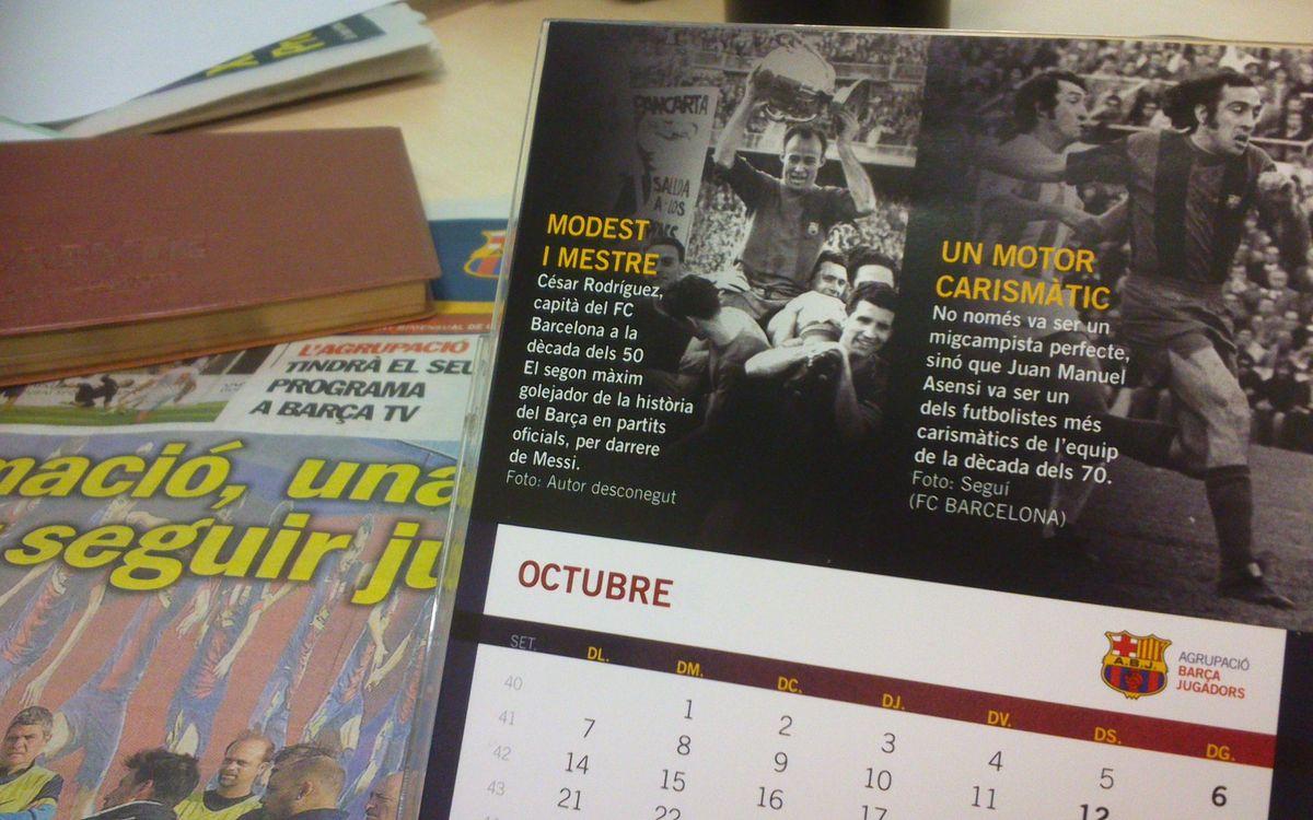 César i Asensi, els capitans protagonistes de l'octubre al calendari