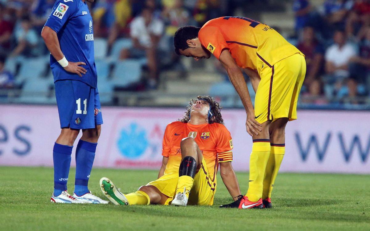 Les proves confirmen la lesió de Puyol, que estarà entre 4 i 6 setmanes de baixa