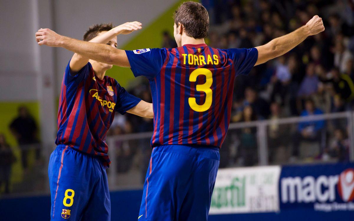 El Barça Alusport se adjudica el derbi ante el Marfil Santa Coloma (1-4)
