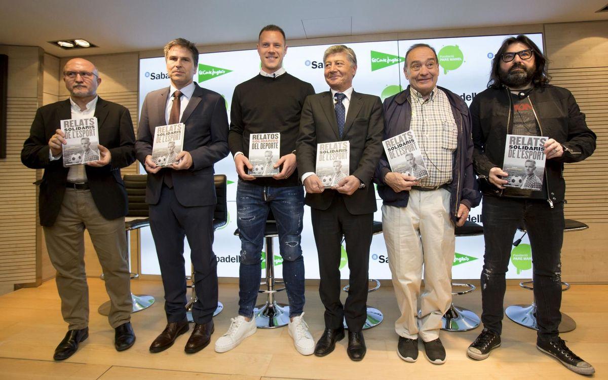 Ter Stegen apadrina el llibre 'Relats Solidaris de l'Esport'
