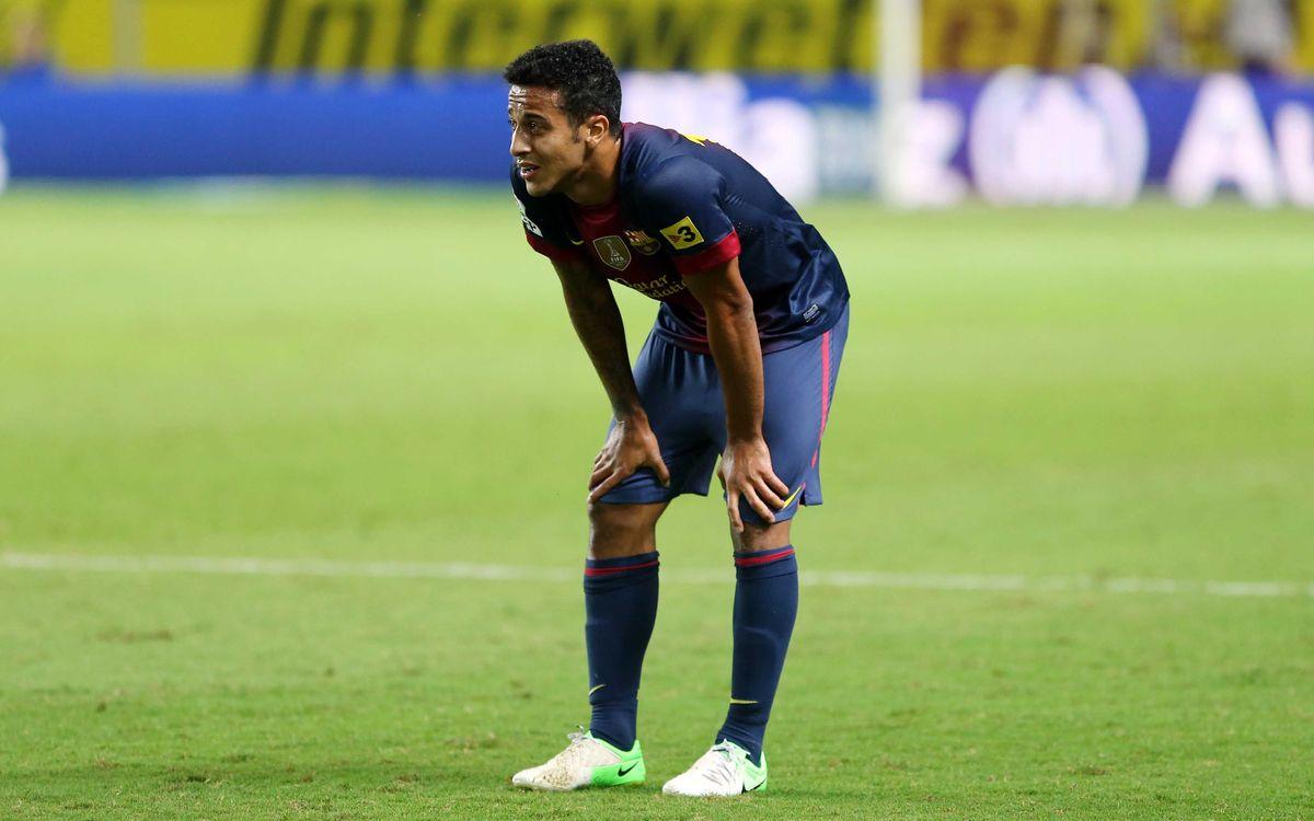 Thiago té afectat el lligament lateral intern del genoll esquerre