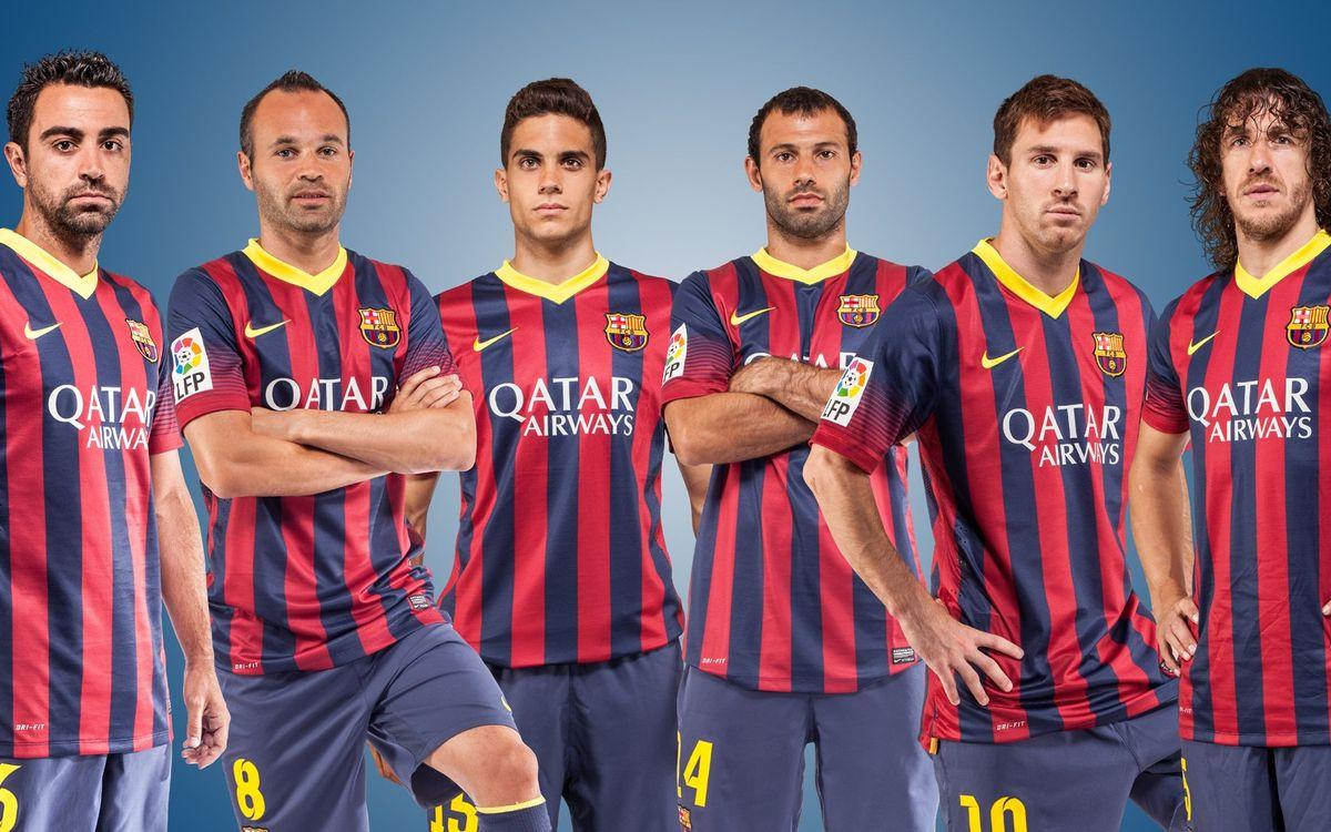 El Premi Barça Jugadors ja té els sis finalistes: Bartra, Iniesta, Mascherano, Messi, Puyol i Xavi