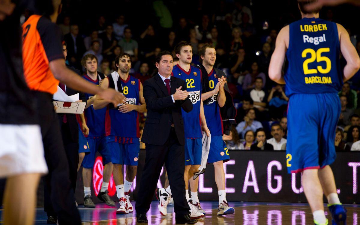Xavi Pascual destaca el trabajo del capitán Navarro