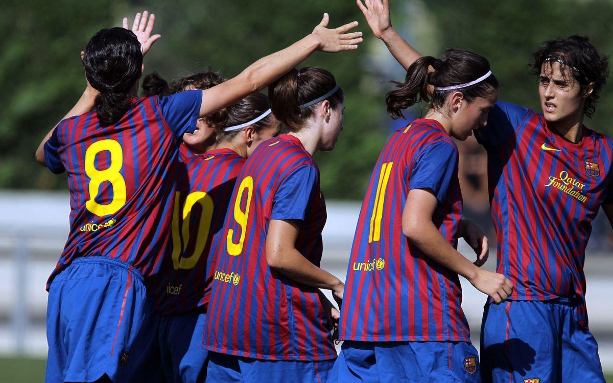 El Femenino azulgrana gana su décimo partido consecutivo (2-0)