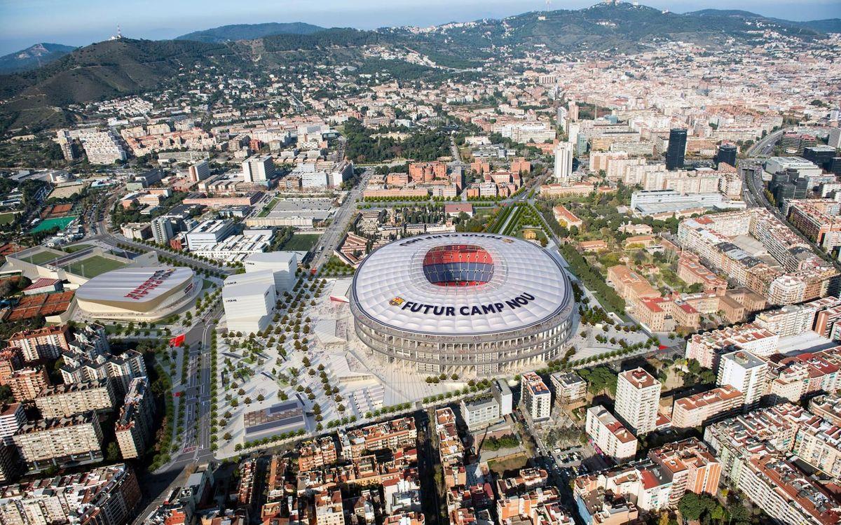 Llum verda a la urbanització dels carrers i zones verdes de l'entorn del Camp Nou per fer possible l'Espai Barça