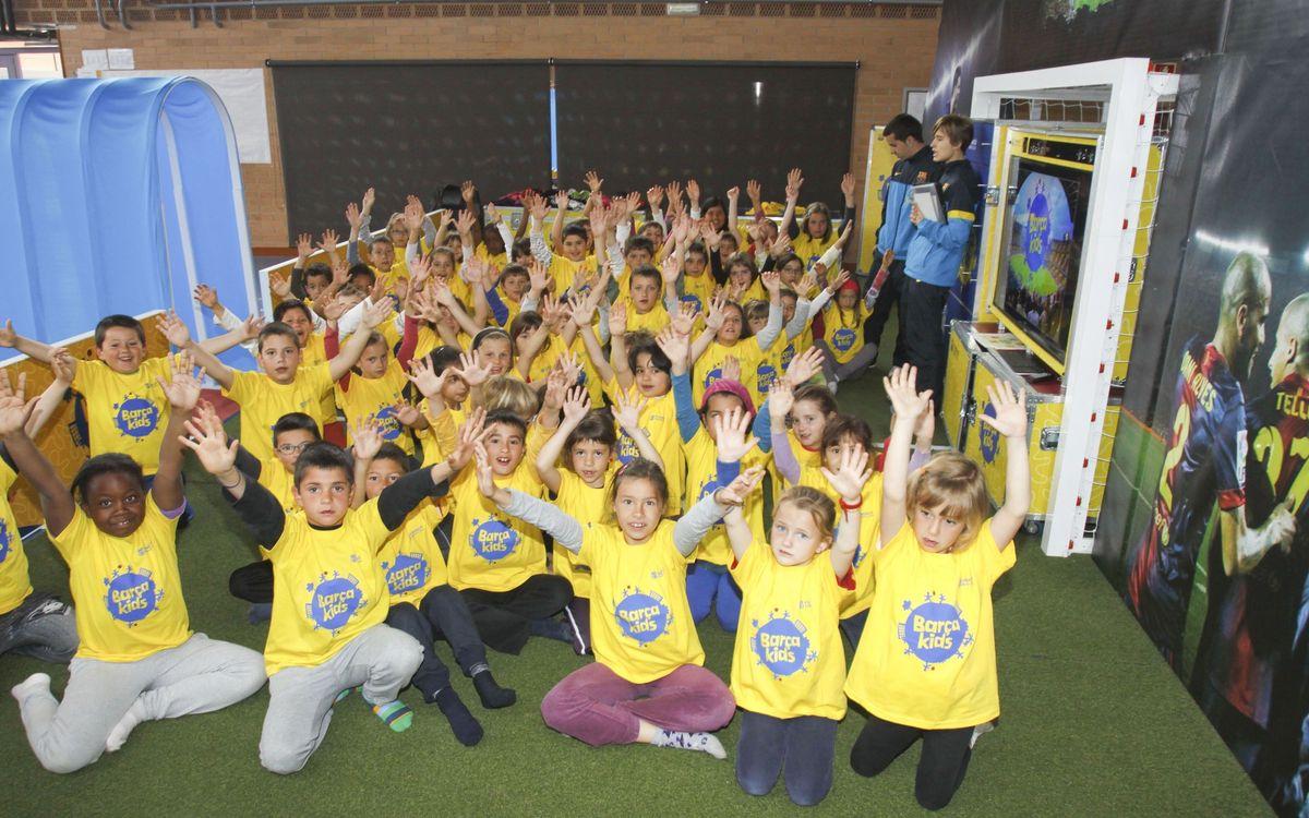 El programa 'Barçakids' enceta el seu segon curs a les escoles