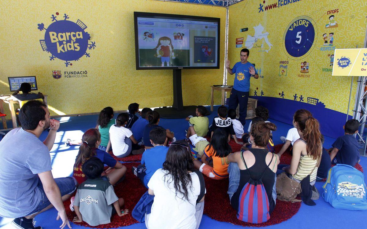 La Fundació FC Barcelona porta a les Festes de la Mercè els projectes 'Barçakids', 'FutbolNet' i 'Som el que mengem'