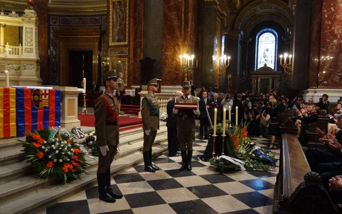 El Barça, present en l'enterrament de les cendres de Kocsis a Budapest