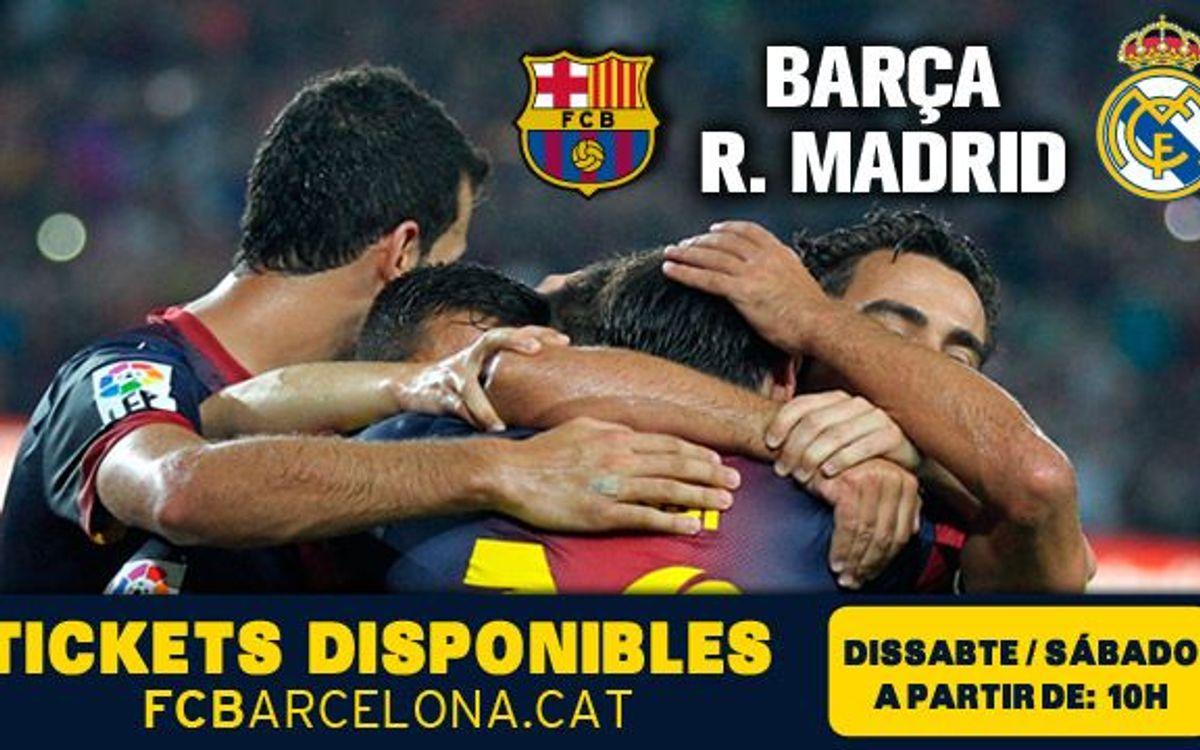 FC Barcelona – Reial Madrid: Dissabte, entrades disponibles per a tot el públic