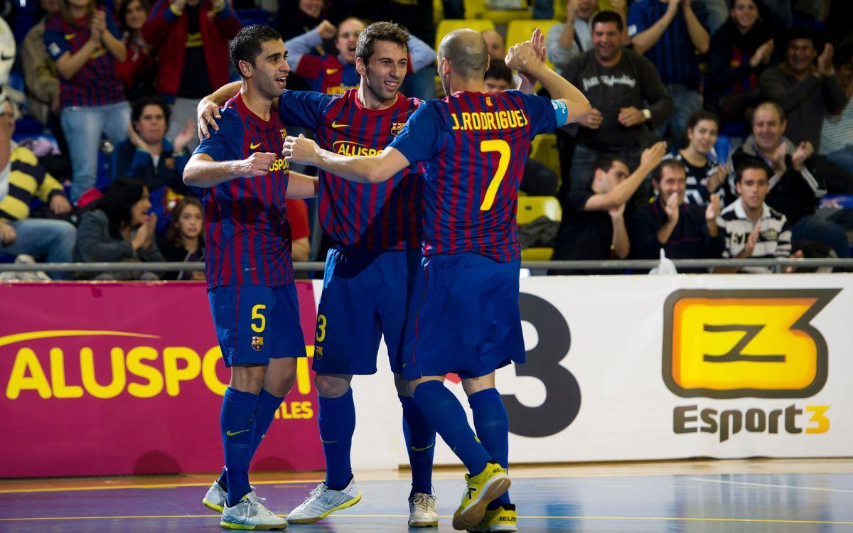 Barça Alusport - CF Eindhoven: la Final a Cuatro, muy cerca (4-0)