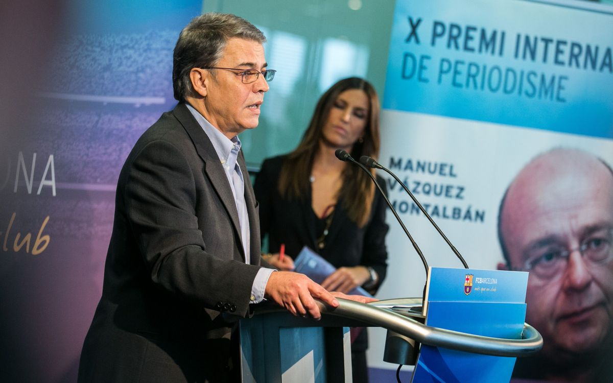 Dimecres, acte d'entrega dels X Premis Internacionals de Periodisme Manuel Vázquez Montalbán