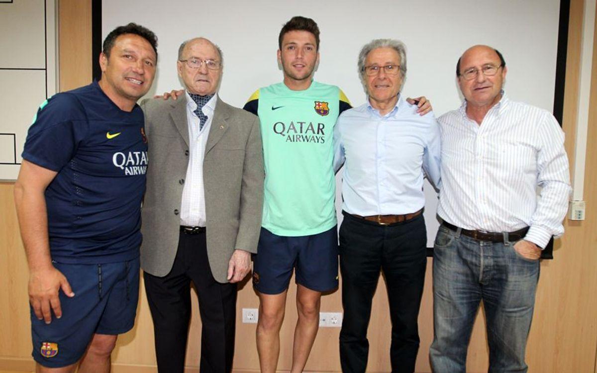 Visita al Barça B i Juvenil A