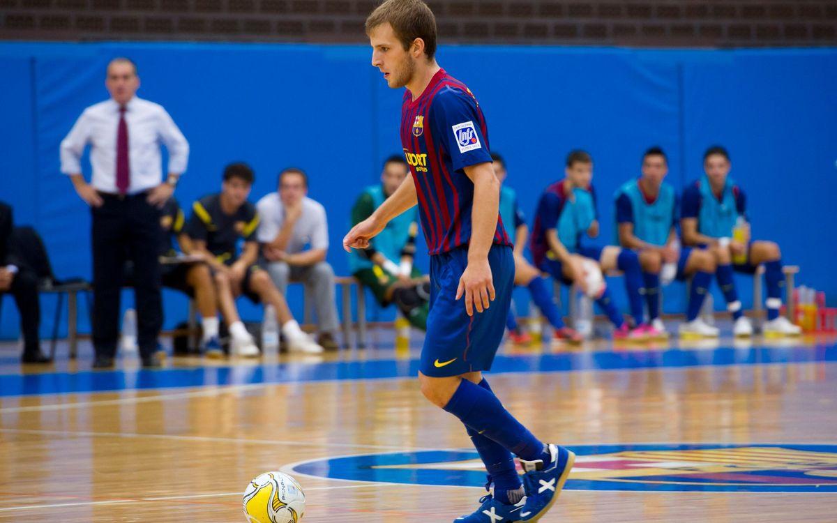 El filial del Barça Alusport sube hasta el sexto lugar tras vencer al Antequera (5-8)
