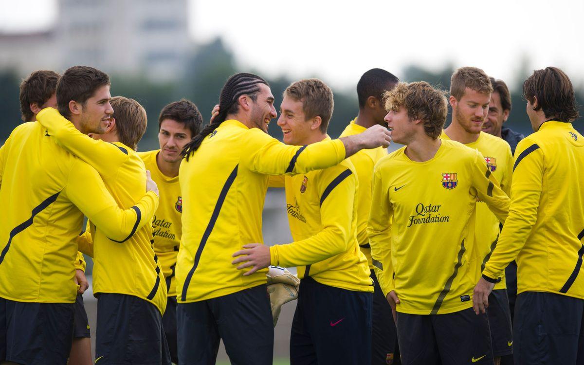 El primer equipo vuelve al trabajo con una sesión conjunta con el Barça B