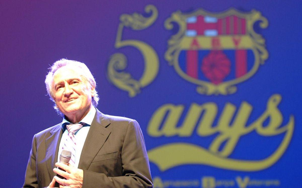 Ens deixa Manolo Escobar, gran amic dels veterans del Barça
