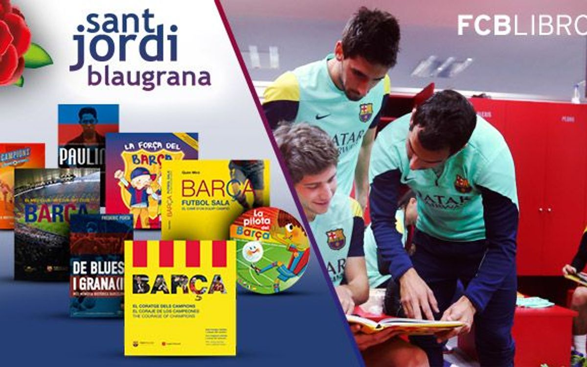 Por Sant Jordi, regala libros del Barça