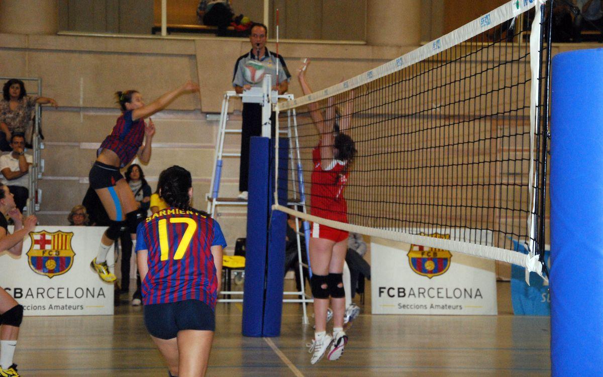 El CVB Barça acaba cediendo la victoria en el tiebreak ante el Grupo Covadonga