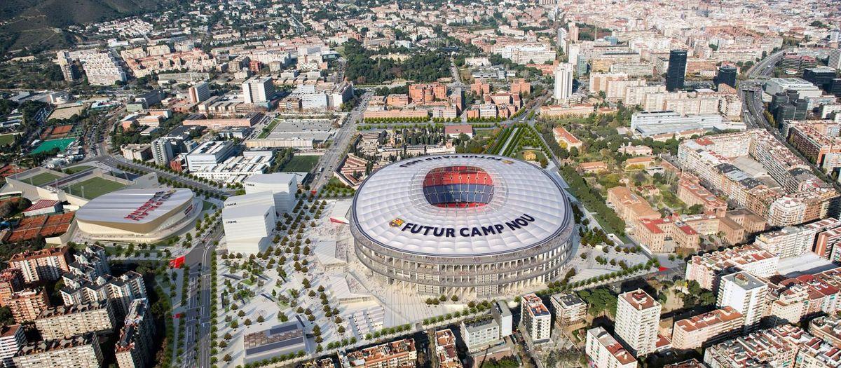 Luz verde a la urbanización de las calles y zonas verdes del entorno del Camp Nou para hacer posible el Espai Barça