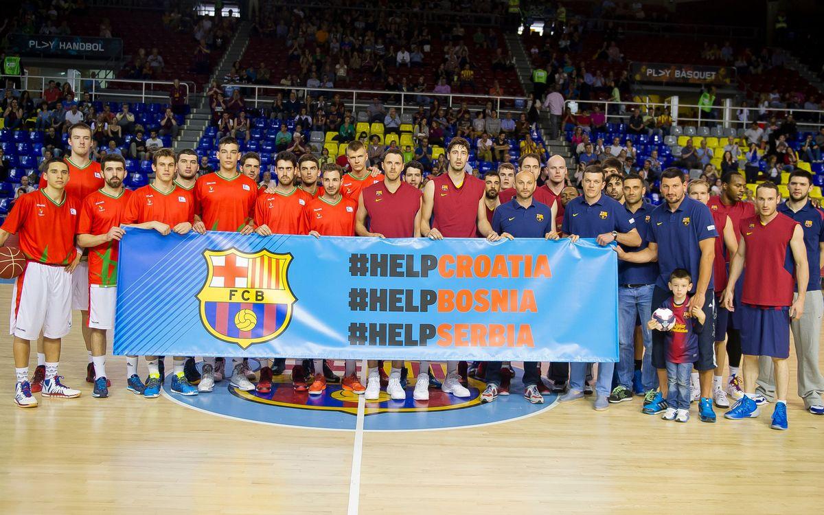 Donació del FC Barcelona per als damnificats per les inundacions als Balcans