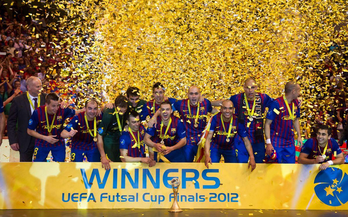 Litija (Eslovènia), Split (Croàcia), Araz (Azerbaidjan), rivals del FC Barcelona Alusport a l'Elite Round de la UEFA Futsal Cup