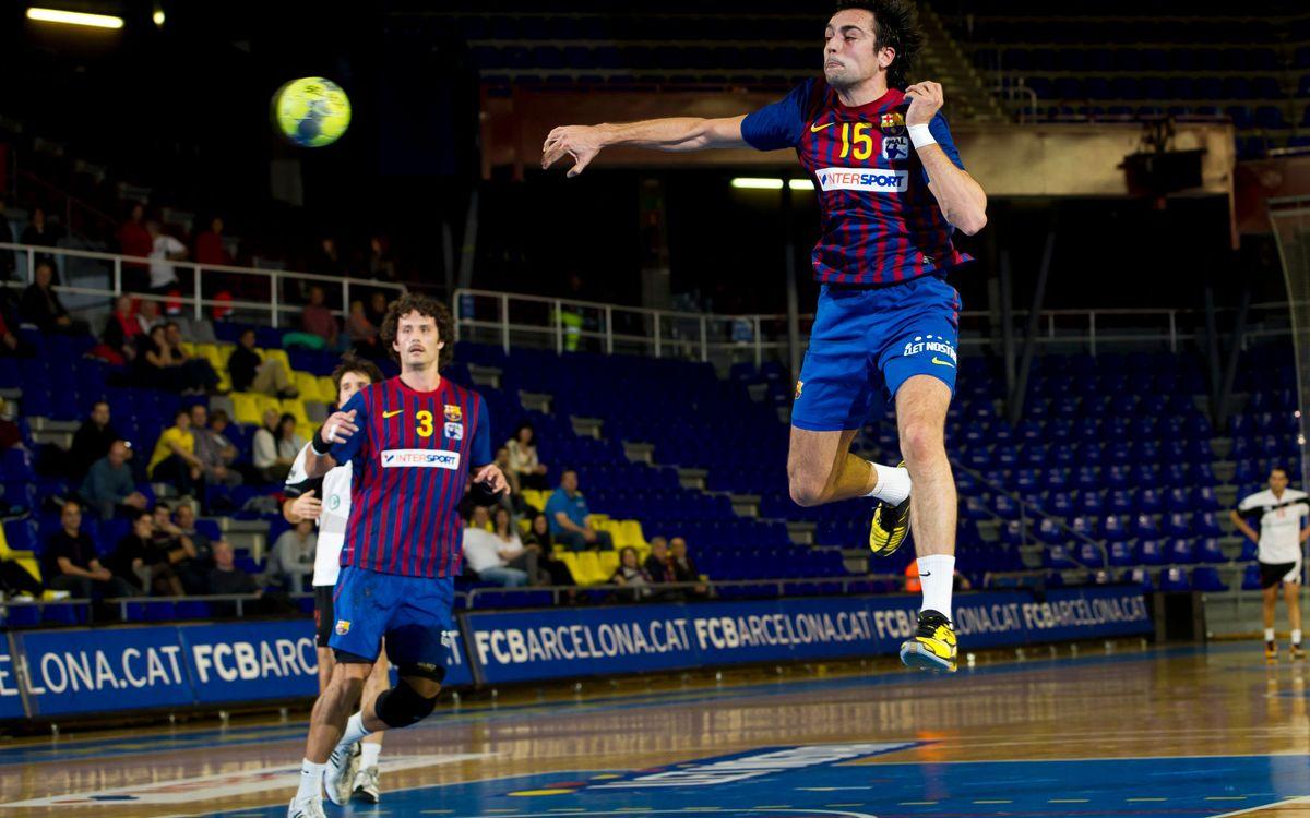 El Barça Intersport sigue colíder de la Asobal tras ganar al BM Ciudad Encantada (39-22)