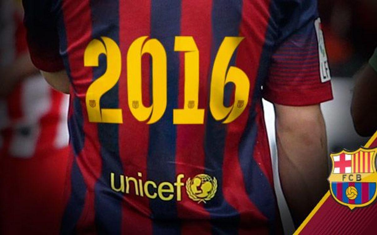 El FC Barcelona prorroga l'aliança amb l'Unicef fins al 2016