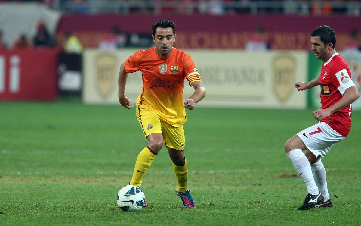 Xavi guanya el premi Joc Net de l'Agrupació Barça Jugadors