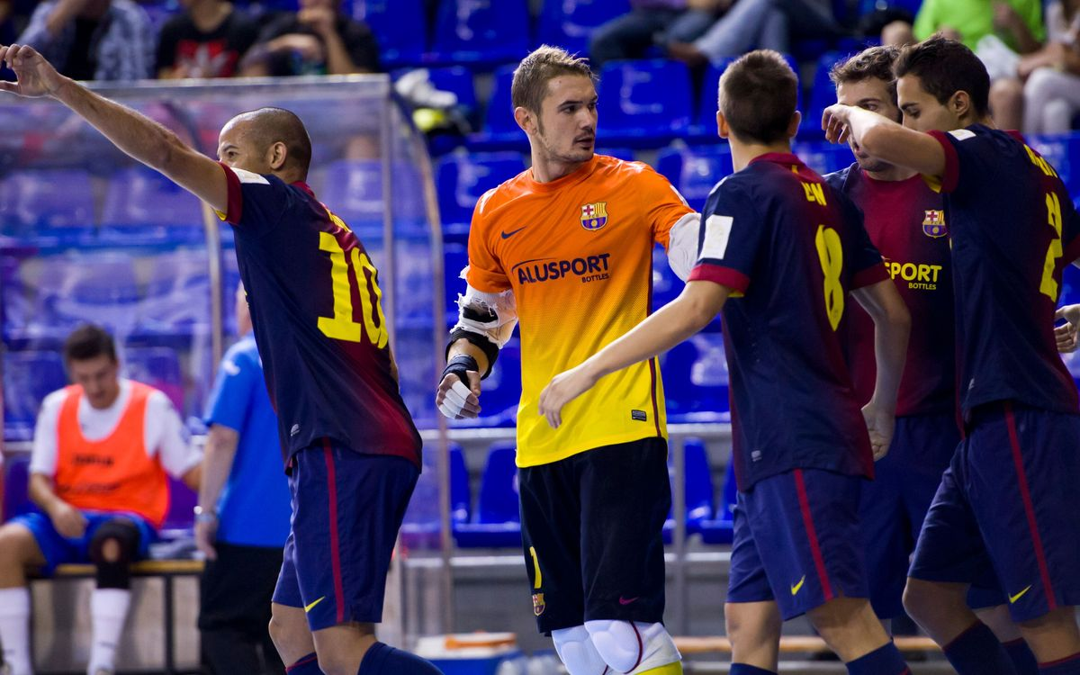 Barça Alusport - Umacon Saragossa: Segona victòria al Palau (4-0)