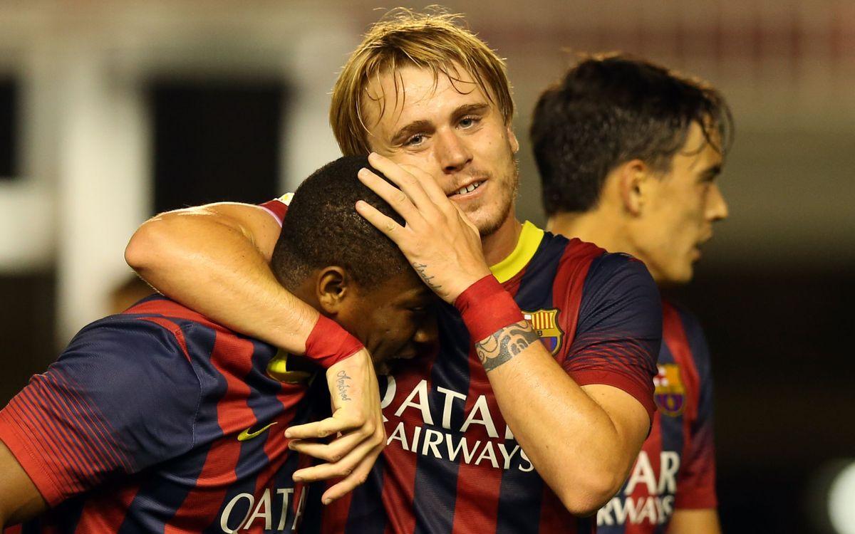 FC Barcelona B - R. Murcia: Demostración de aptitudes (4-0)
