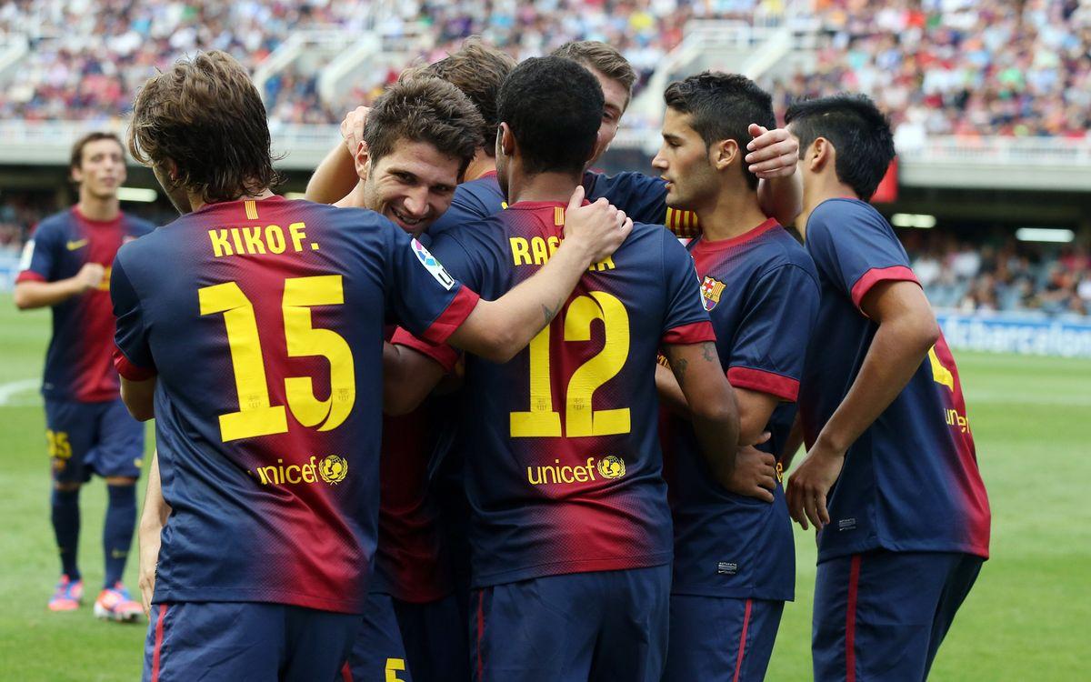 Barça B – Sabadell: Recital, derbi i primera victòria (2-0)