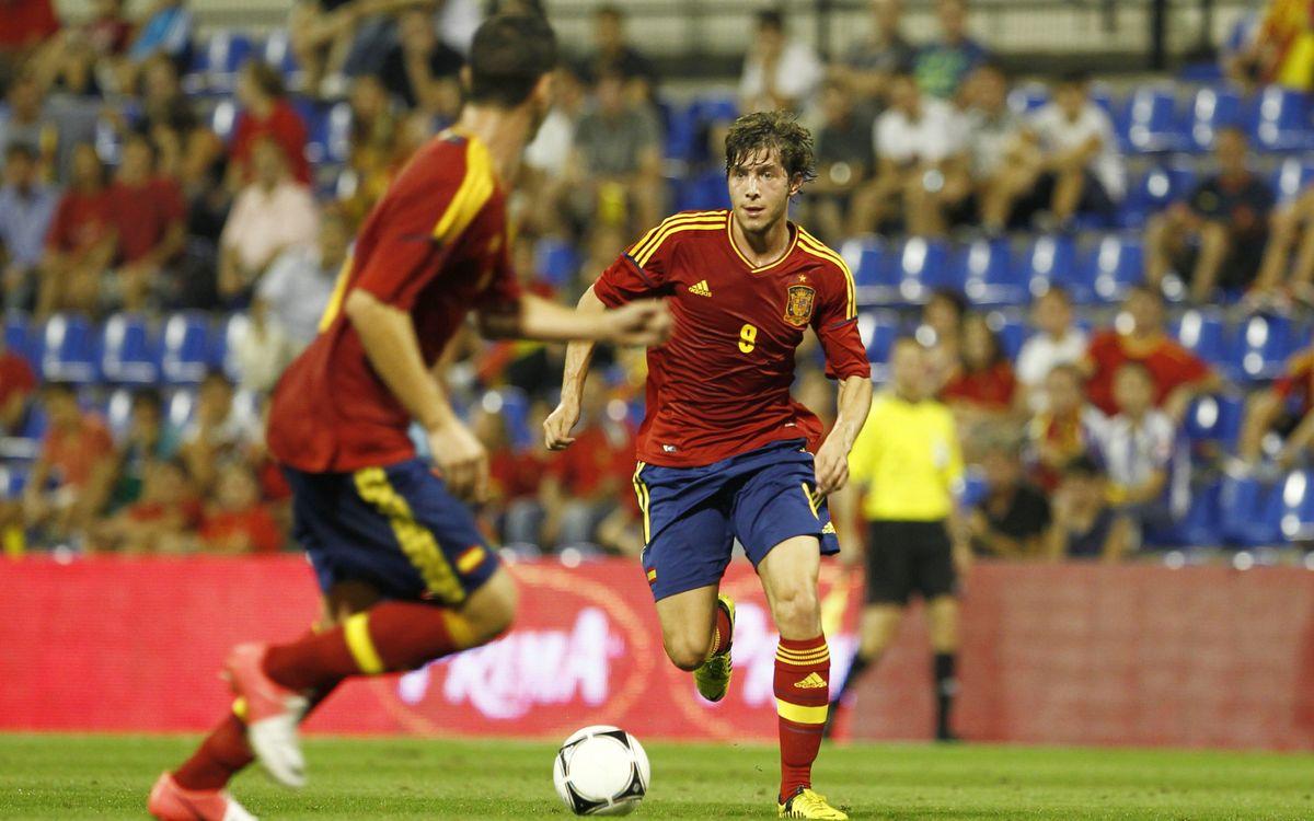 Deulofeu i Montoya golejen amb la selecció espanyola Sub-21 (6-0)