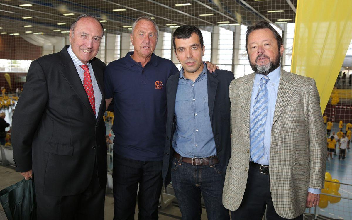 Presents a l'Open Day de la Fundació Cruyff