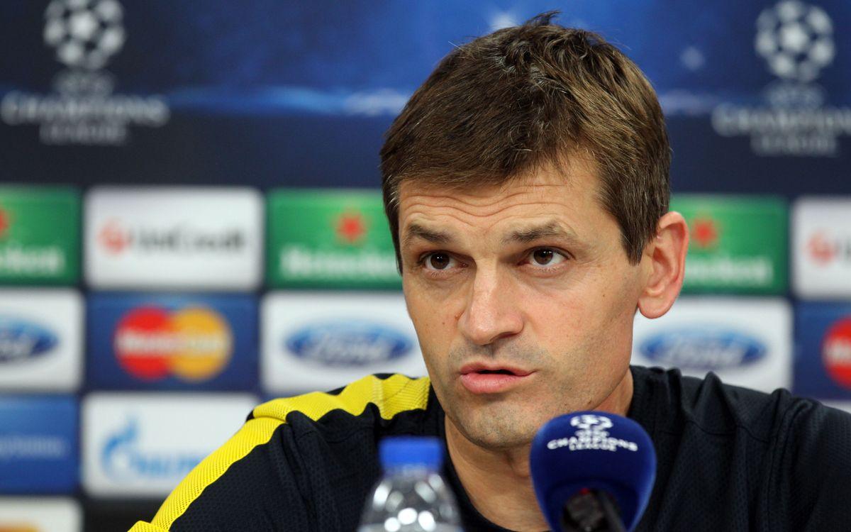 """Tito Vilanova: """"Guanyar aquí és un repte, i a aquests jugadors els agraden"""""""