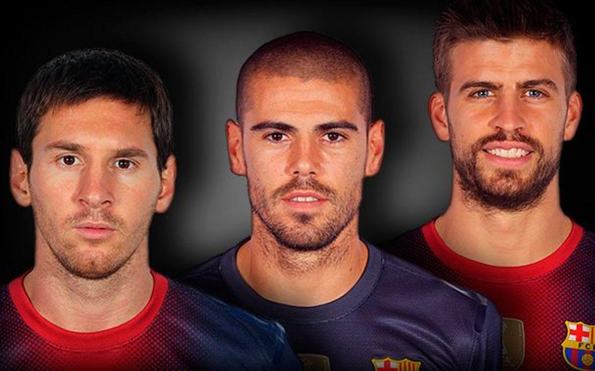Valdés, Messi i Piqué, els més utilitzats