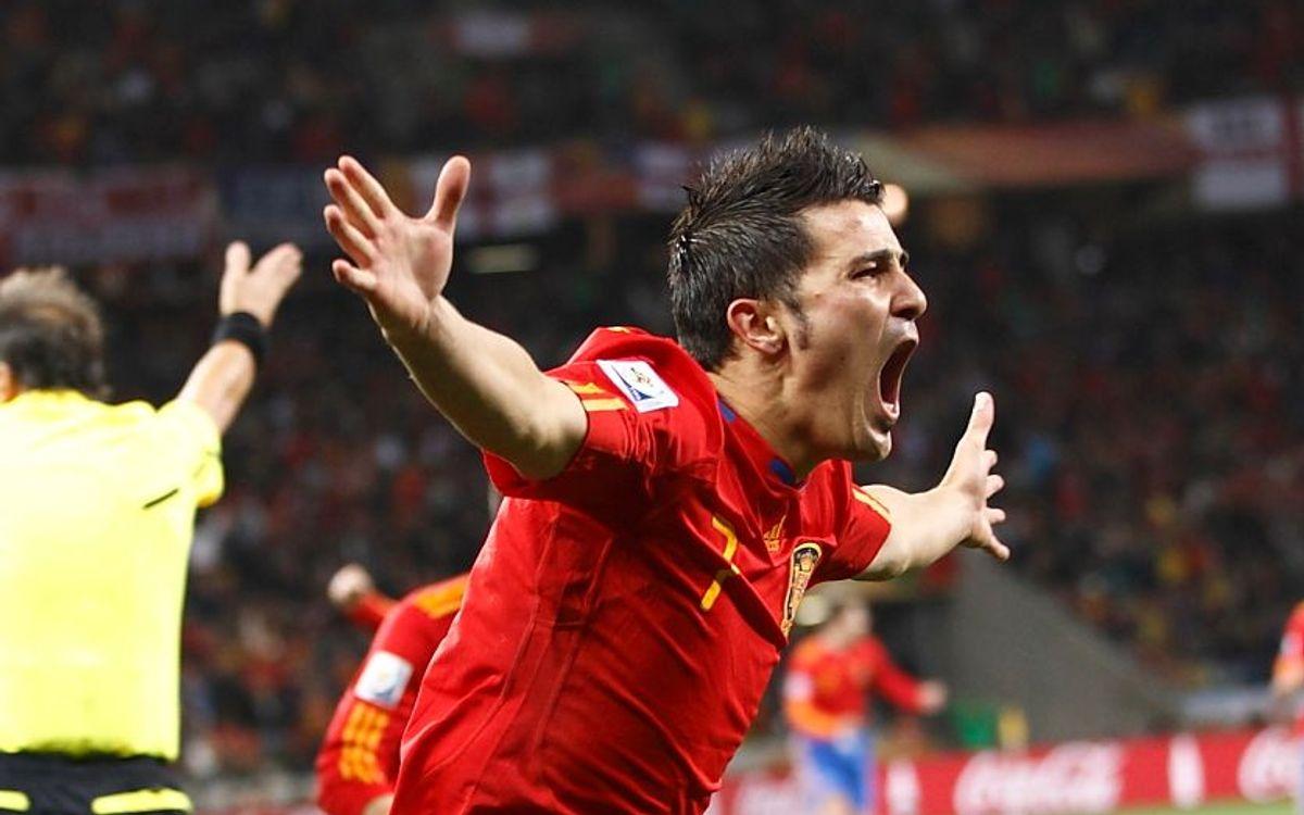 Victòries d'Espanya (5-0) i el Brasil (1-0)