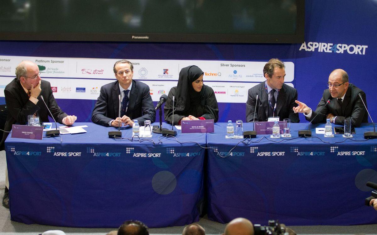 Javier Faus y Manel Arroyo explican el acuerdo con Qatar Foundation