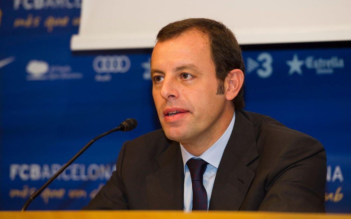 Sandro Rosell, en el Aspire4Sport de Doha