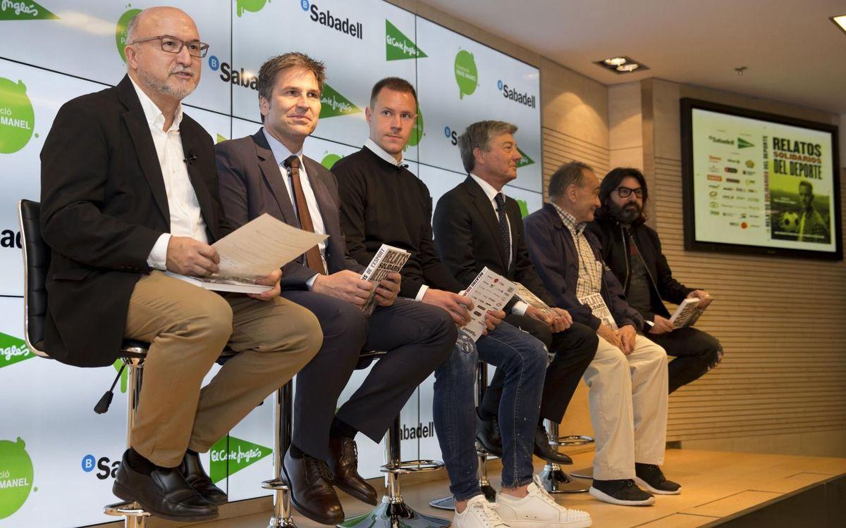 Ter Stegen presenta el libro Relats Solidaris de l'Esport