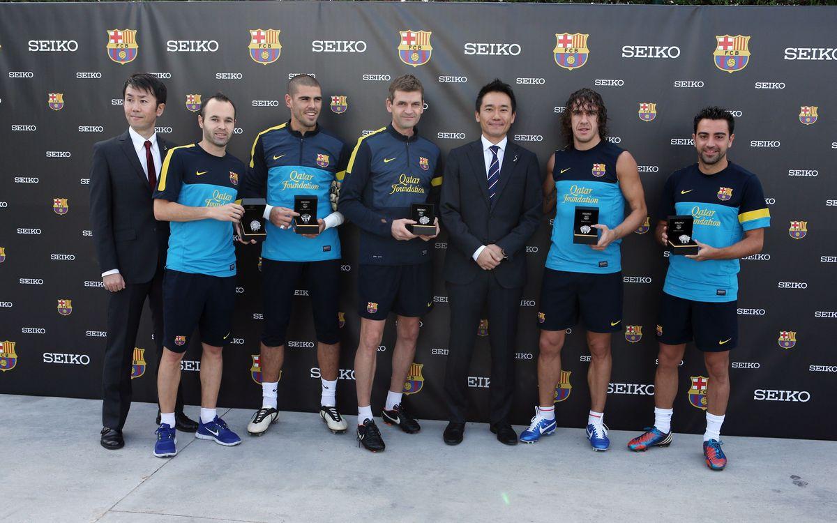 Seiko entrega el rellotge oficial del Barça al primer equip