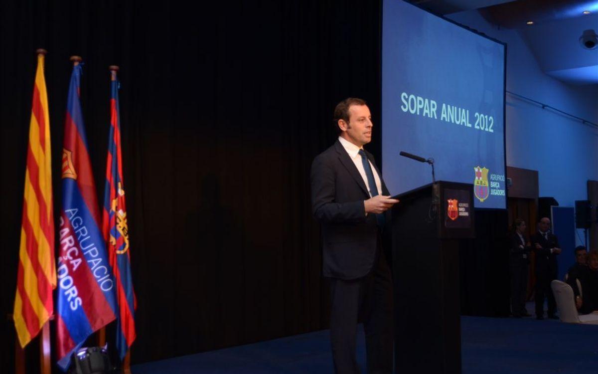 Sandro Rosell presidirà divendres el Sopar Anual de l'Agrupació