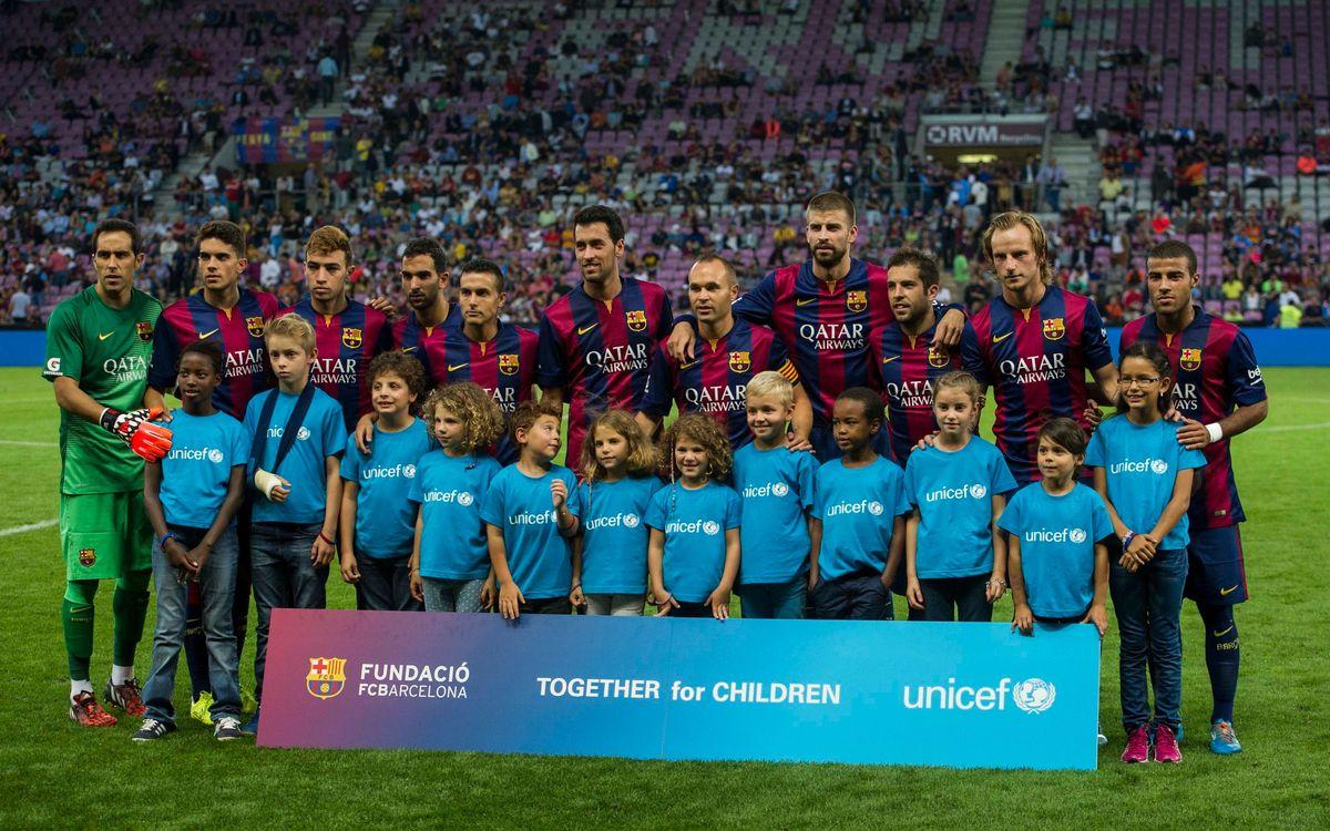 Barça i Unicef, junts també a la pretemporada