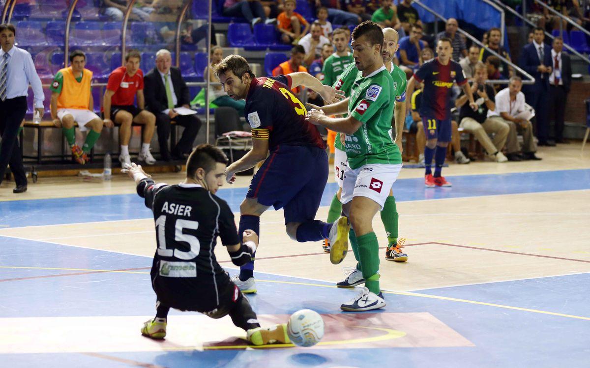 FCB Alusport – Triman Navarra: Estrena amb un triomf treballat (3-2)